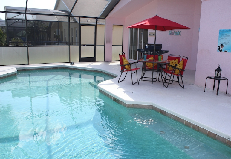 Lake Berkley Resort, Kissimmee, Lake Berkley Resort 4 Bedroom Vacation Home with Pool (1520), Private pool