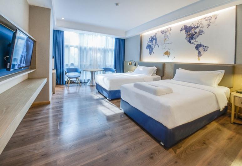 Kyriad Marvelous Hotel Shenzhen Baoan, Shenzhen, Twin Room with View, Living Area
