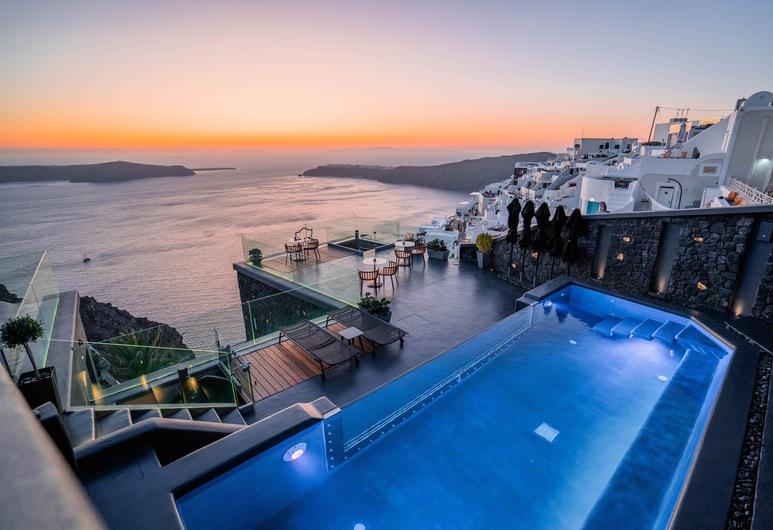 Kivotos Santorini, Santorini, Villa, 3 soverom, privat basseng, utsikt mot sjø (Outdoor Jacuzzi), Rom
