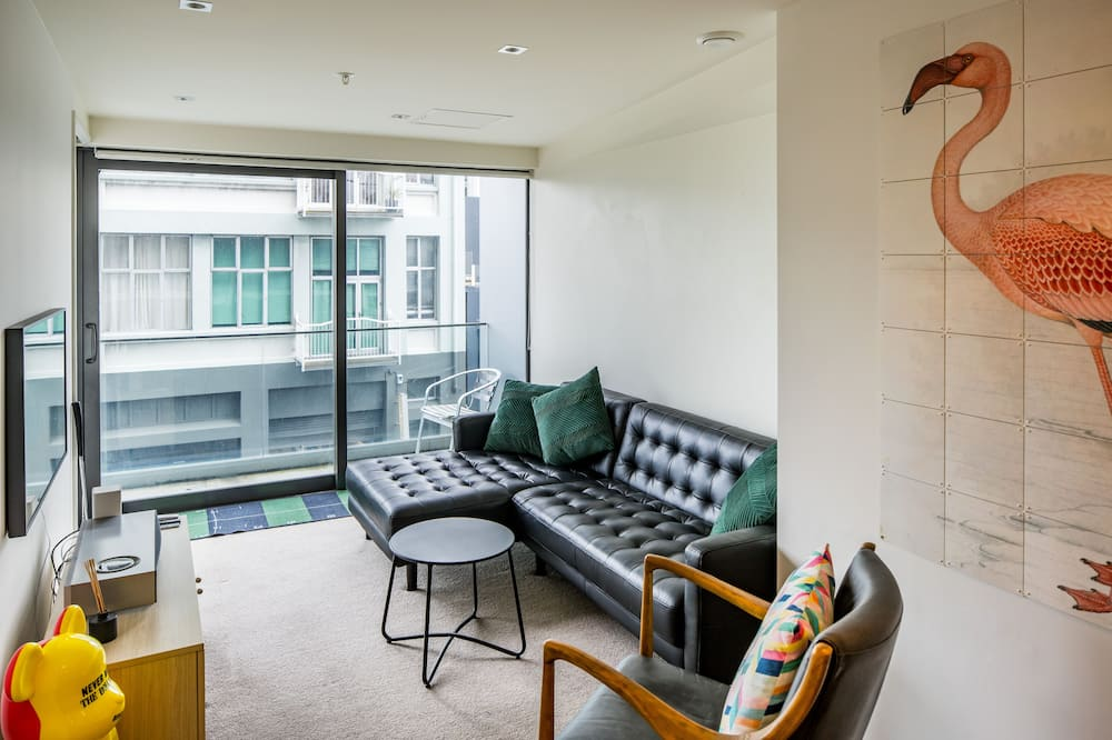 Private Unserviced Two Bedroom Apartment - Living Area