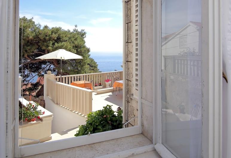 Room & Studios Rina - Adults Only, Dubrovnik, Quarto casal, Pátio, Vista para o mar, Quarto