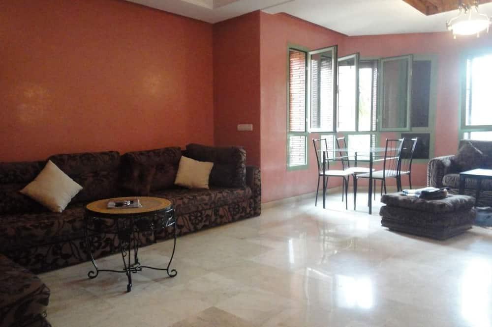 شقة عادية - غرفة نوم واحدة - لغير المدخنين - منظر للمدينة - منطقة المعيشة