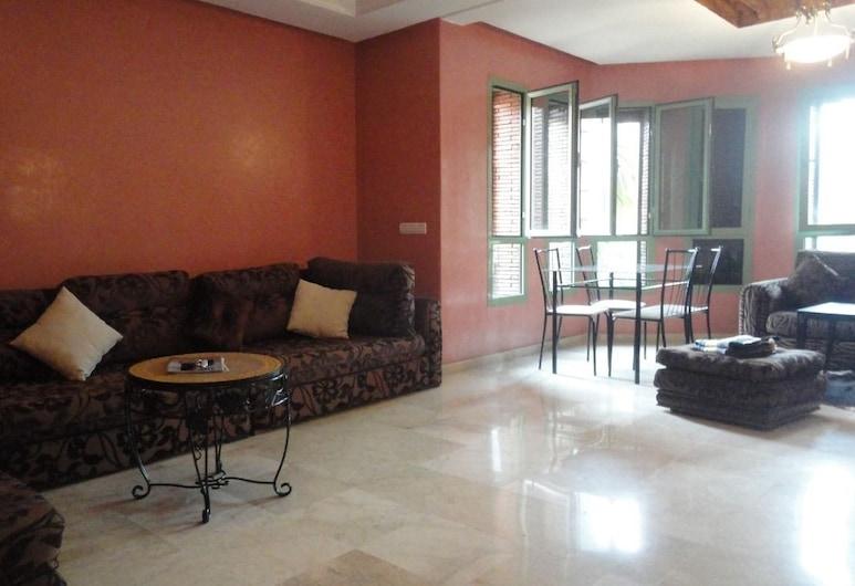 Residence Kenza, Marrakech, Standard apartman, 1 hálószobával, nemdohányzó, kilátással a városra, Nappali rész