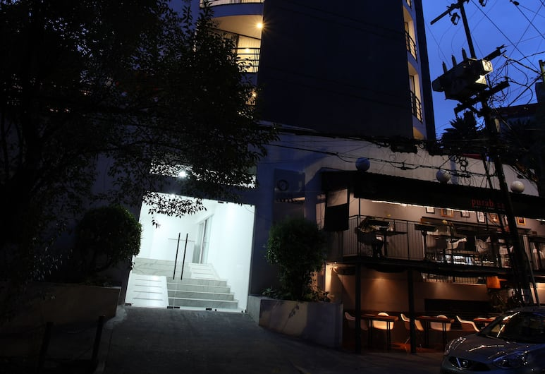 康迪薩圓環酒店, 墨西哥城, 酒店入口 - 夜景