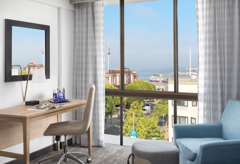 Hotel Caza Fisherman's Wharf, San Francisco, Room, 1 King Bed, Bay View, Beach/Ocean View