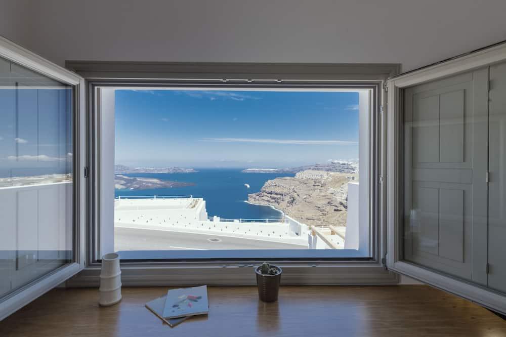 Luxury Suite, 1 Bedroom, Hot Tub, Sea View (Nefeli) - Chambre