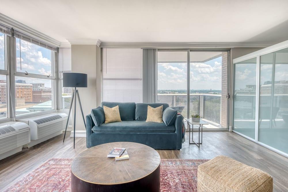 City-lejlighed - 1 kingsize-seng med sovesofa - Opholdsområde