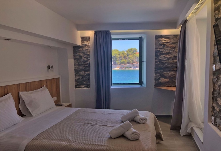 The Water, Skiathos, Dvoulůžkový pokoj, výhled na moře, Pokoj