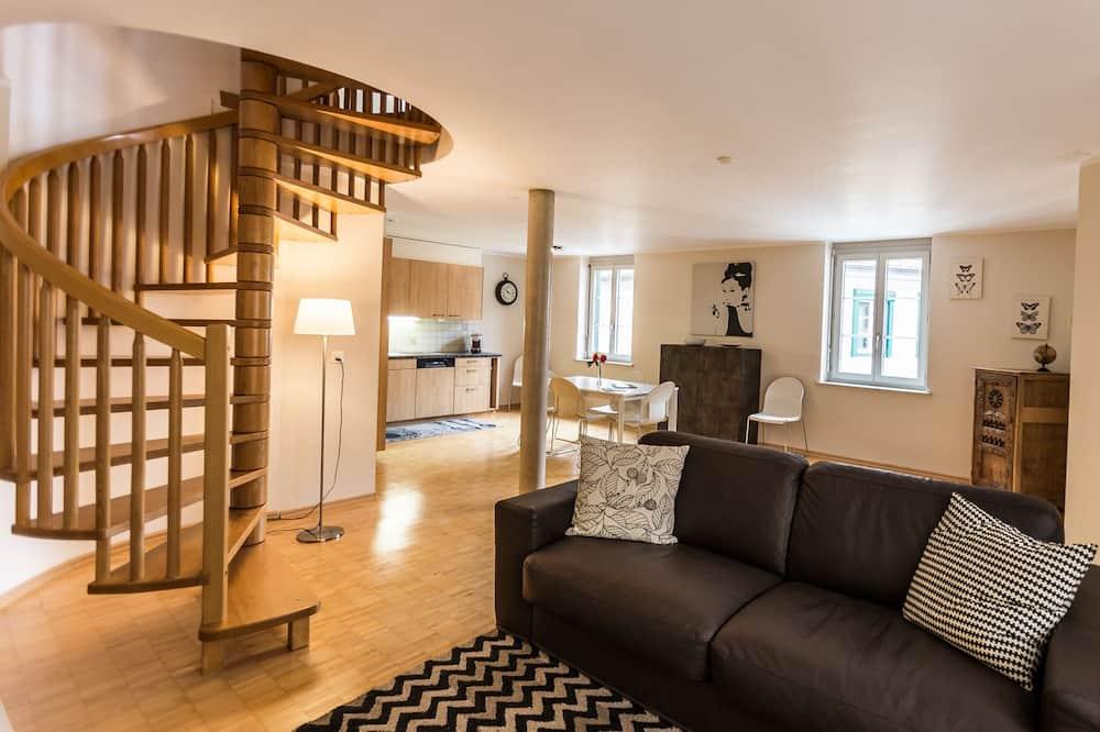 Departamento Deluxe, 2 habitaciones (Louis de Marval Cleaning Fee CHF200) - Sala de estar