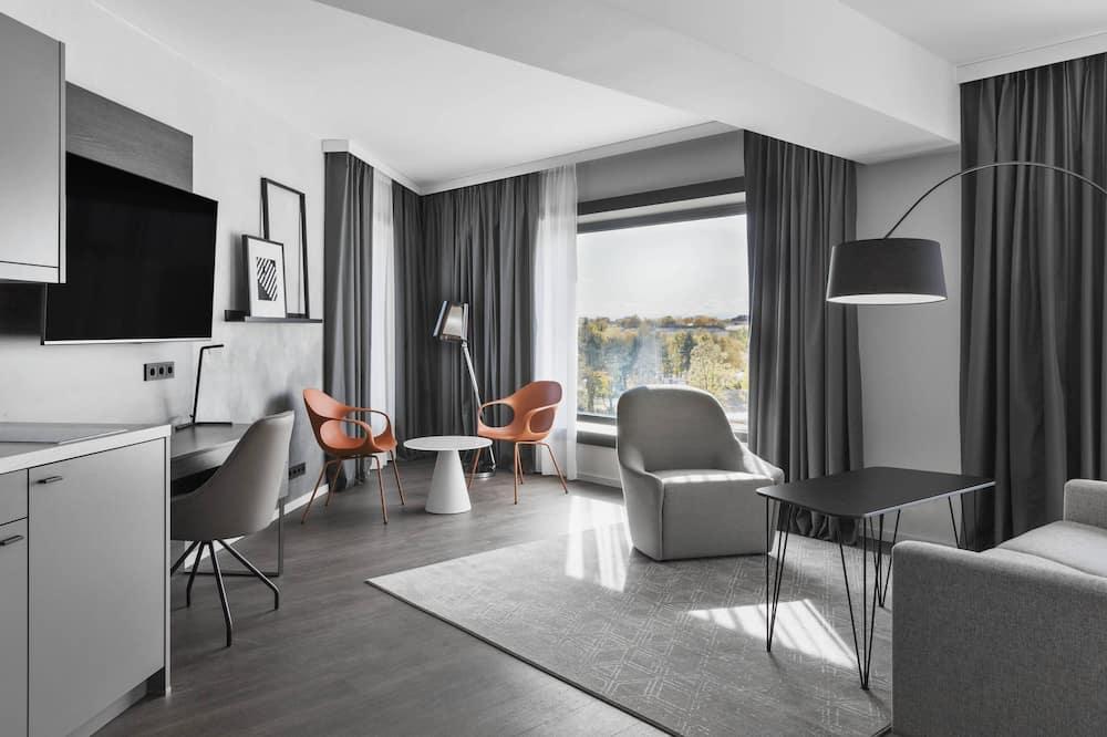 Familie studio, 1 queensize bed, niet-roken, Hoek - Kamer