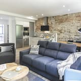 Appartement Supérieur, 3 chambres, vue fleuve - Coin séjour