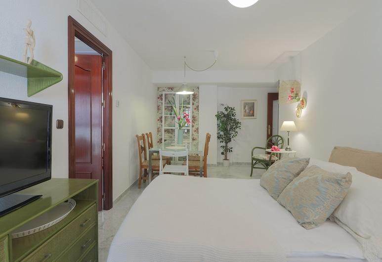 Big Retro Malagueta Beach and Downtown, Málaga, Appartement, 3 chambres, Coin séjour