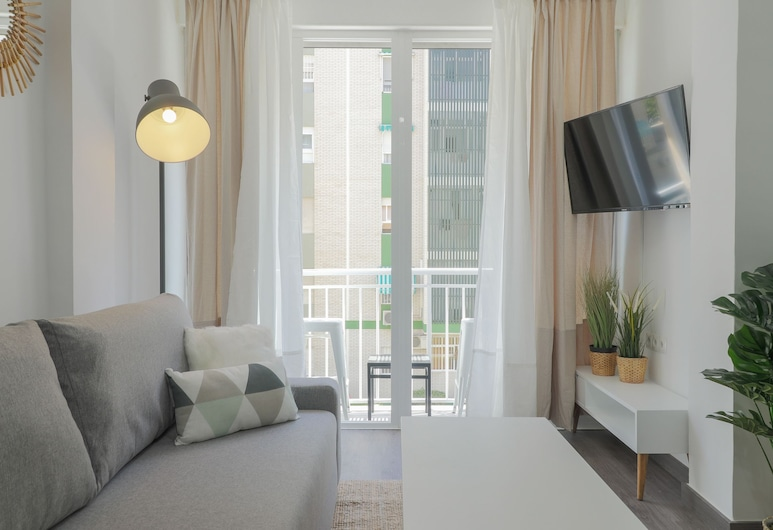 Sweet Apartment by the Beach near Downtown, Málaga, Lejlighed - 1 soveværelse, Opholdsområde