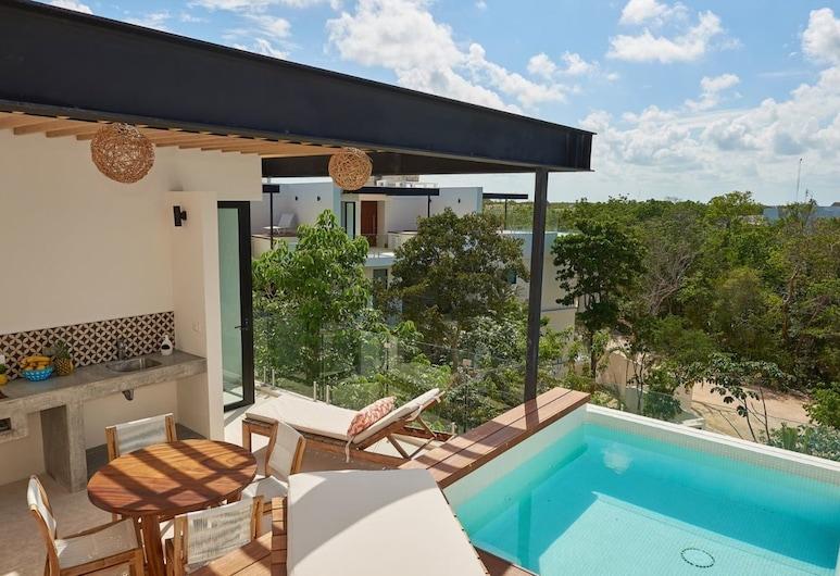 Romantic Penthouse Studio Get Away With Private Splash Pool- PENT HOUSE 3 B- By Salt-Kisses, Tulum