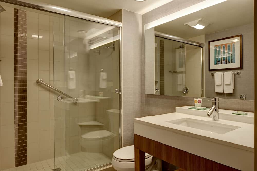 Kambarys, su patogumais neįgaliesiems (2 Queen Beds with Sofa Bed, Shower) - Vonios kambarys