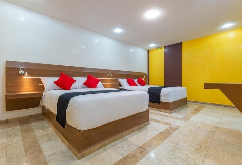 Capital O DF Inn, Mexico City, Pokój standardowy, 2 łóżka podwójne, Pokój