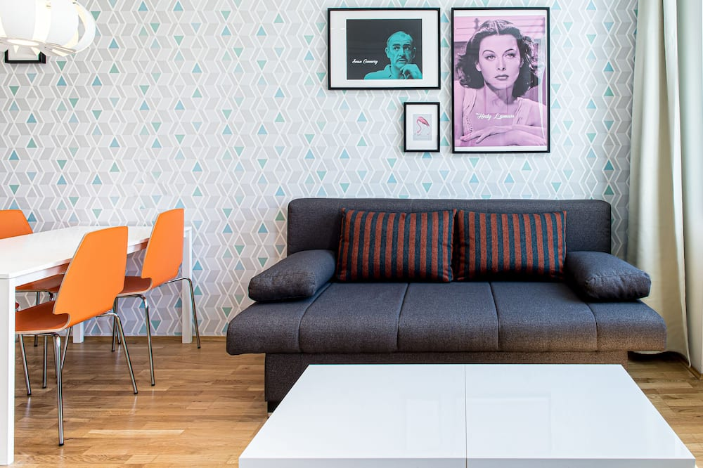 סוויטה משפחתית, מספר מיטות, מטבח (with Sofabed) - אזור מגורים