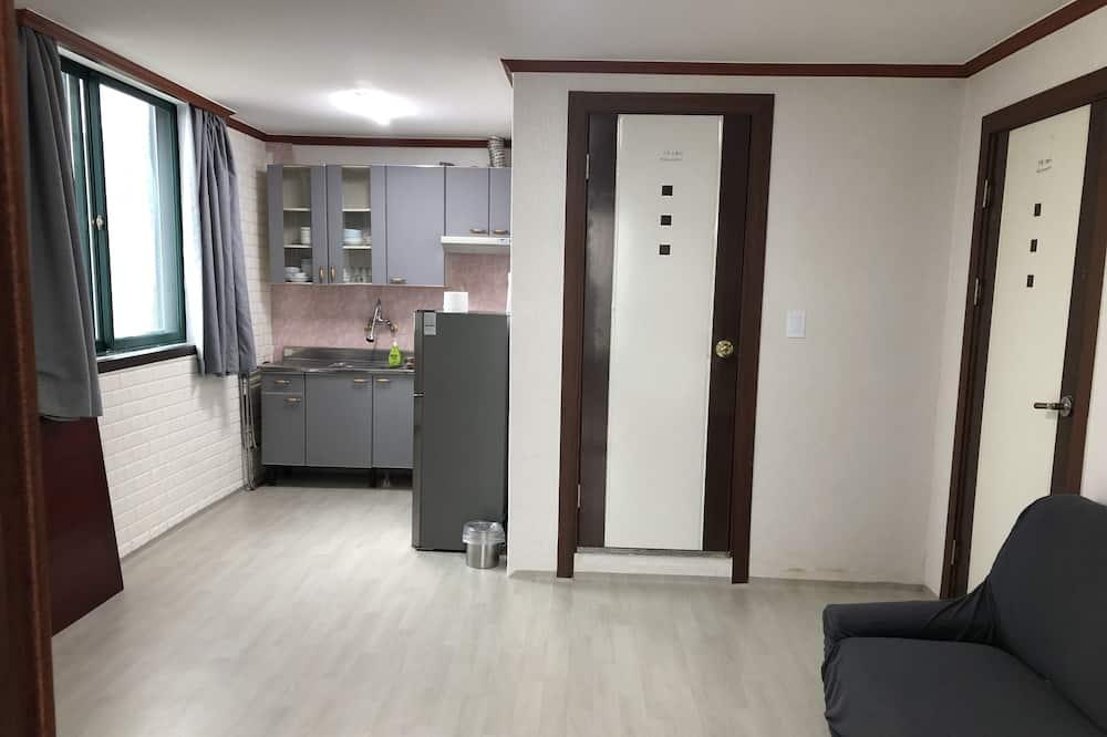 Lägenhet Superior - pentry - havsutsikt (Pension Type) - Vardagsrum