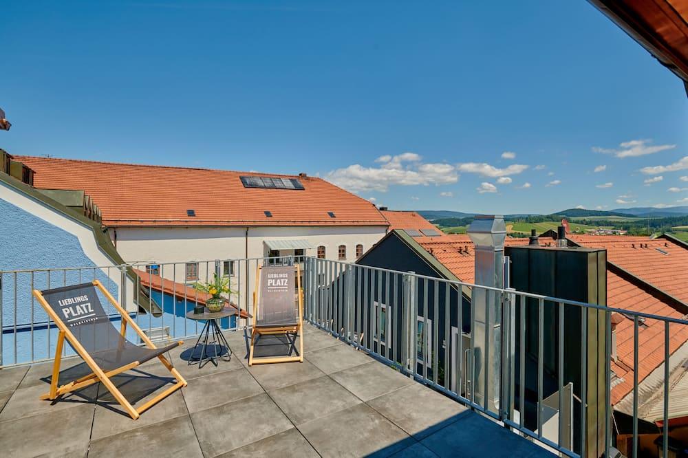 Luksus-suite - balkon (Sauna) - Terrasse/patio