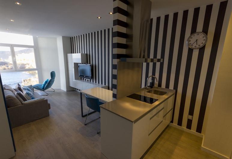 維吉尼亞夢想飯店, Las Palmas de Gran Canaria, 全景開放式套房, 海景, 客廳