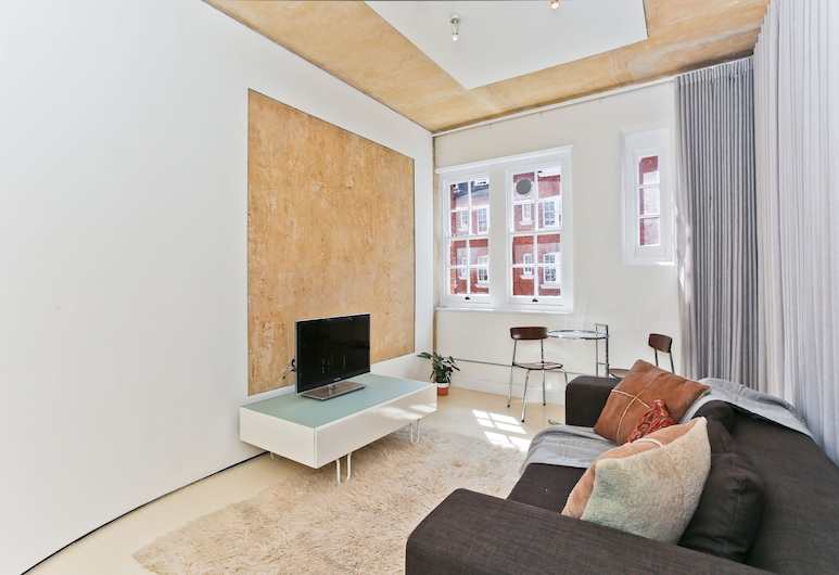 Platinum Apartment in Bloomsbury, לונדון, דירה, חדר שינה אחד, סלון