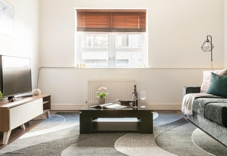 Platinum 1bed Apartment Aldgate East, London, Apartment, 1 Schlafzimmer, Wohnbereich