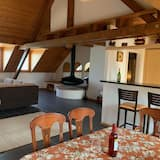 Apartmán typu Comfort, 2 spálne, kuchyňa, výhľad na jazero - Obývačka