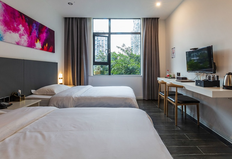 Sucha Hotel Chengdu Hongpailou Station, Chengdu, Deluxe Twin Room (Mainland Chinese Citizen Only), Guest Room