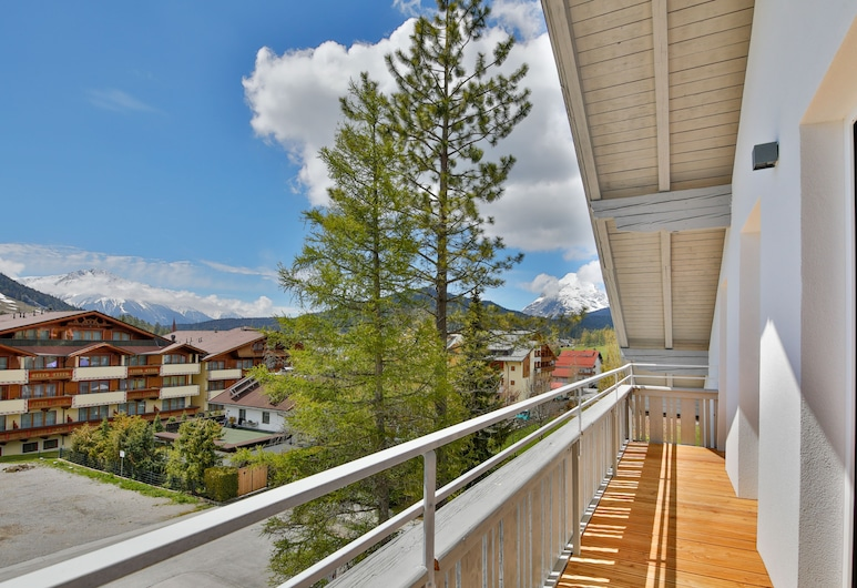 Bergfunken Apartments, Seefeld in Tirol, Appartamento Comfort, 2 camere da letto, balcone (Waldbewohner EUR 60 cleaning fee), Terrazza/Patio