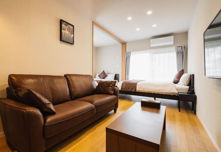 Cocolie Beppu, Beppu, Deluxe Room, Living Area