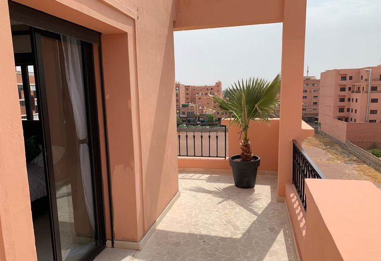 Appartement Gueliz, Marrakech, Apartmán, 2 spálne, Balkón
