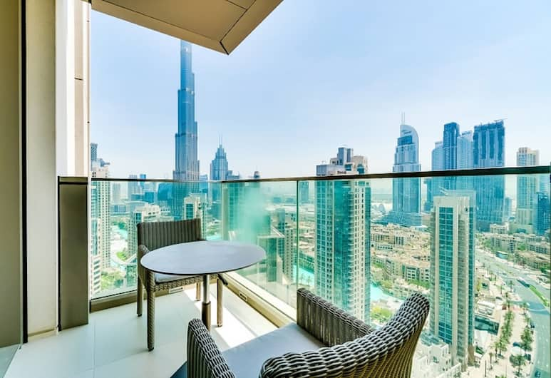 Vida Residences Downtown - Ease by Emaar, Dubajus, Apartamentai, 2 miegamieji (Partial Burj View), Vaizdas iš balkono