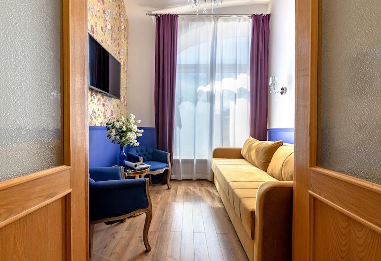 繽紛 Spb 涅瓦大街傳奇公寓酒店, 聖彼得堡, 時尚公寓 (Summer Garden), 客廳