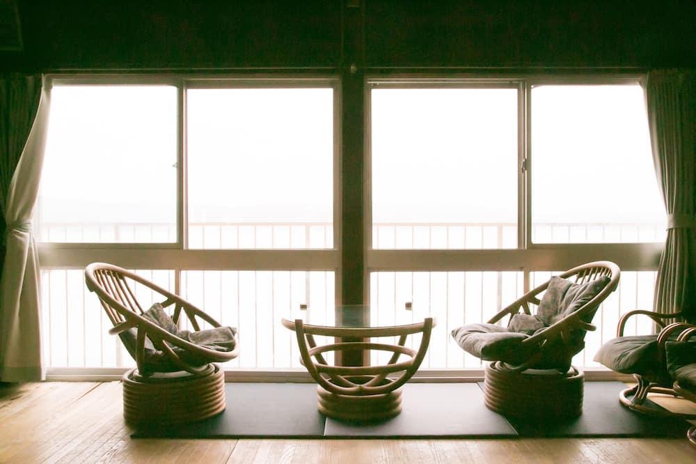 Tradicinio tipo kambarys, vaizdas į vandenyną (Japanese Style, for 10 Guests) - Svetainė
