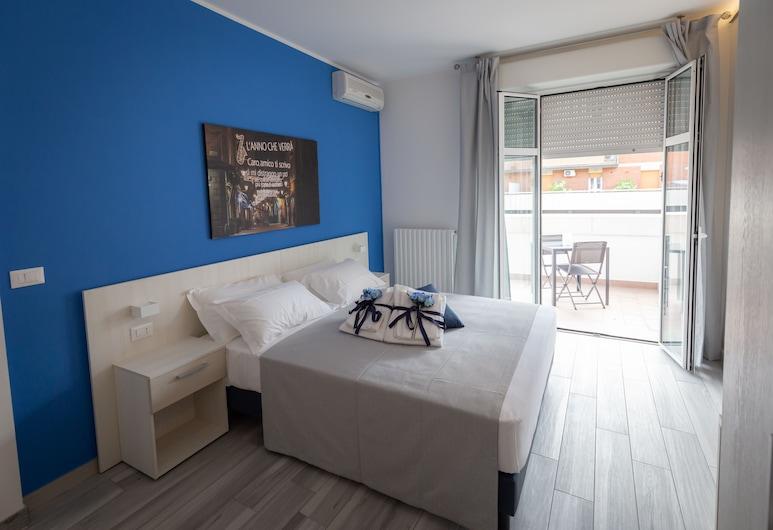 瑪莉大樓飯店, 波隆那, 豪華雙人或雙床房, 露台, 客房
