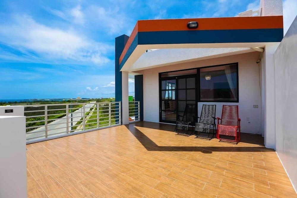 Habitación familiar, vista al mar - Terraza o patio
