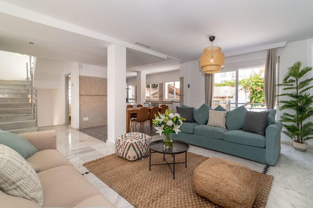 Villa, 5 slaapkamers, uitzicht op zwembad - Woonruimte