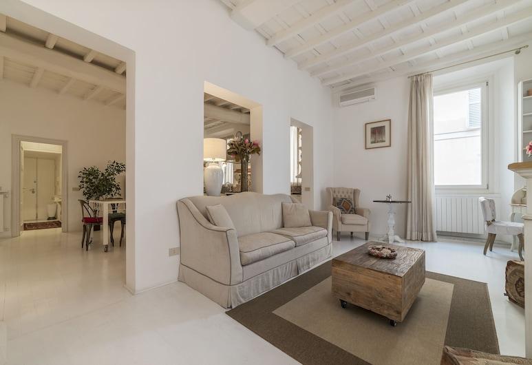 坎波迪菲歐里奢華公寓酒店, 羅馬, 公寓, 1 間臥室, 客廳