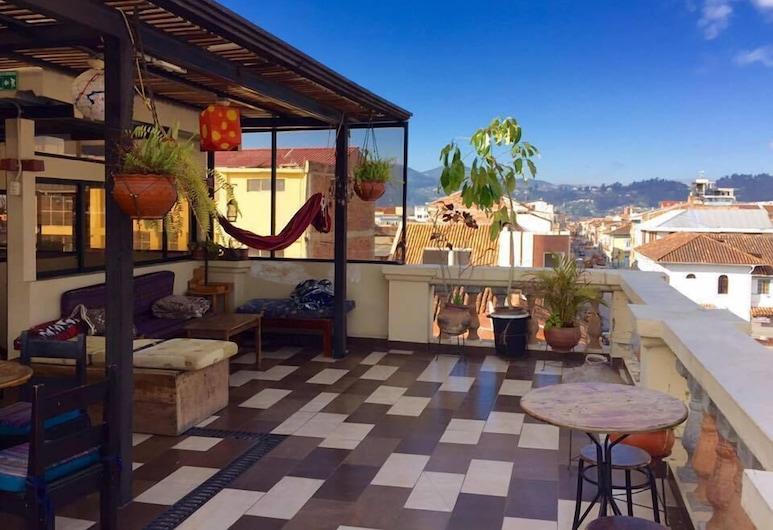 El Cafecito Hostel Cuenca, Κουένκα, Αίθριο/βεράντα
