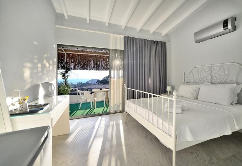 Oza Butik Hotel, Bodrum, Deluxe-Doppelzimmer, Meerblick, Ausblick vom Zimmer