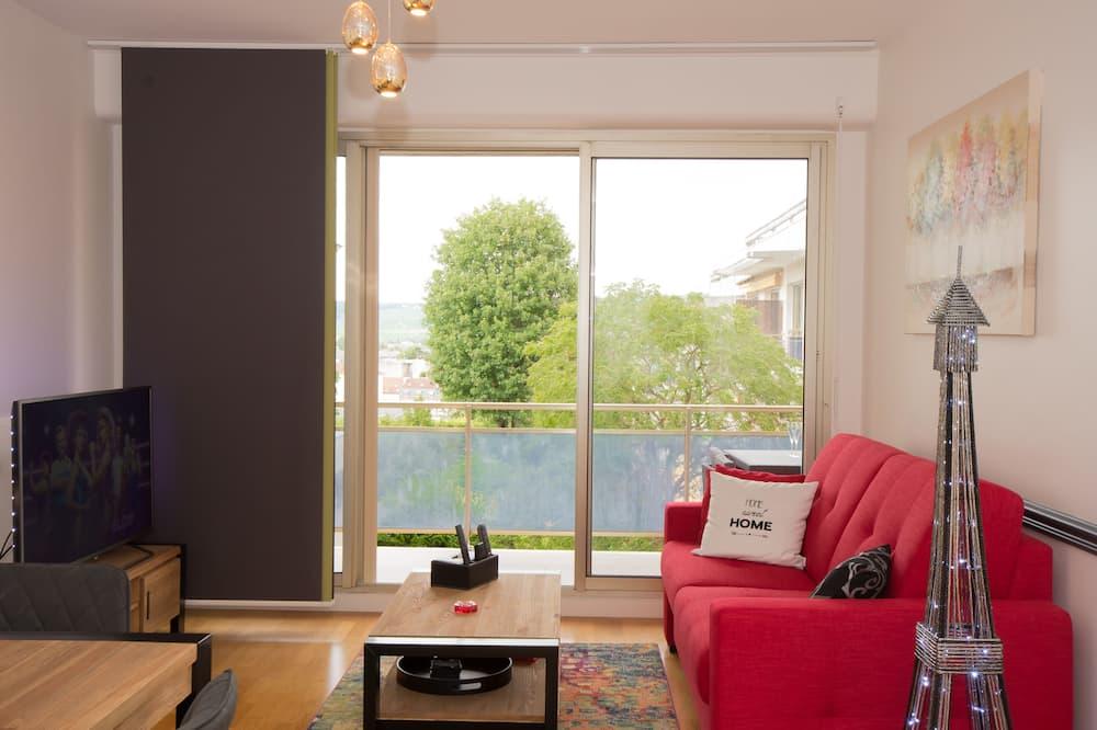 Apartamento de Luxo, Casa de Banho Privativa (Avenue de Champagne) - Área de Estar