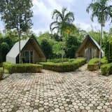 Liukso klasės trobelė - Vaizdas į sodą