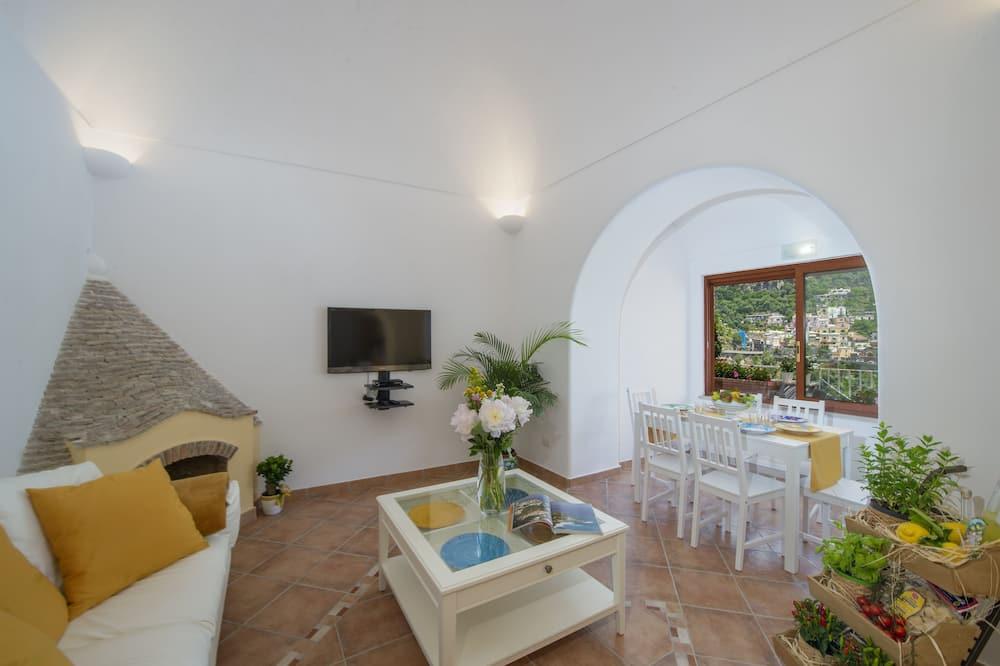 فيلا بانوراما - ٣ غرف نوم - بمنظر للبحر - غرفة معيشة
