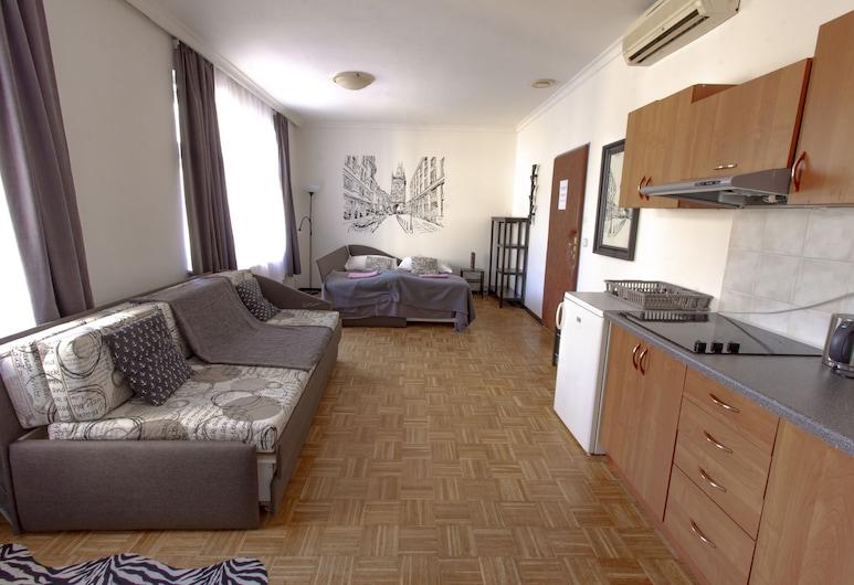 Hostel and Apartment Blue88, Praga, Apartamento luxo, Quarto