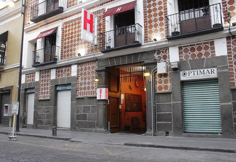 El Descanso Catedral Hotel, Puebla, Průčelí hotelu