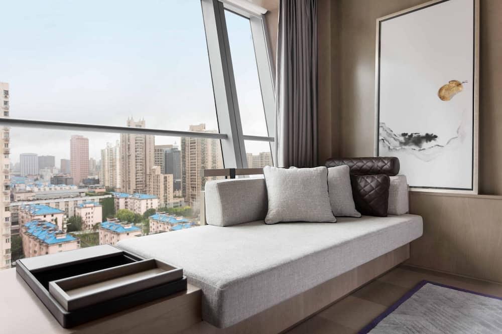 Deluxe soba, 2 bračna kreveta, za nepušače, pogled na grad - Pogled na grad