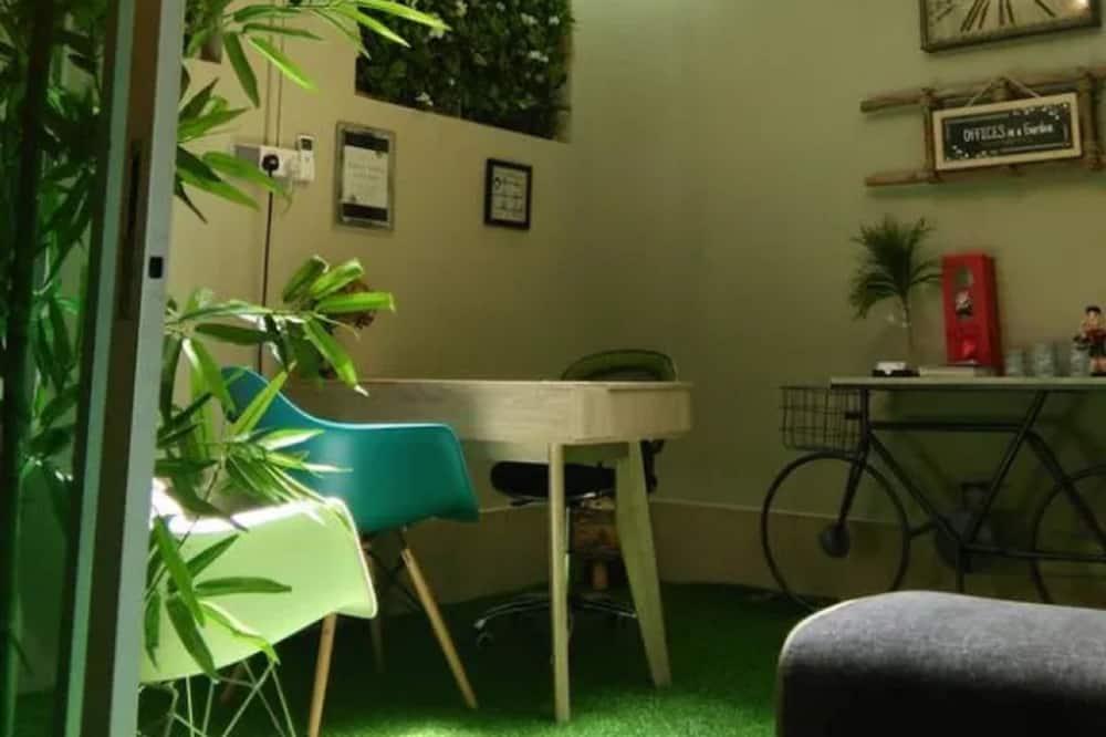 4-Bed Mixed Dorm - Living Area