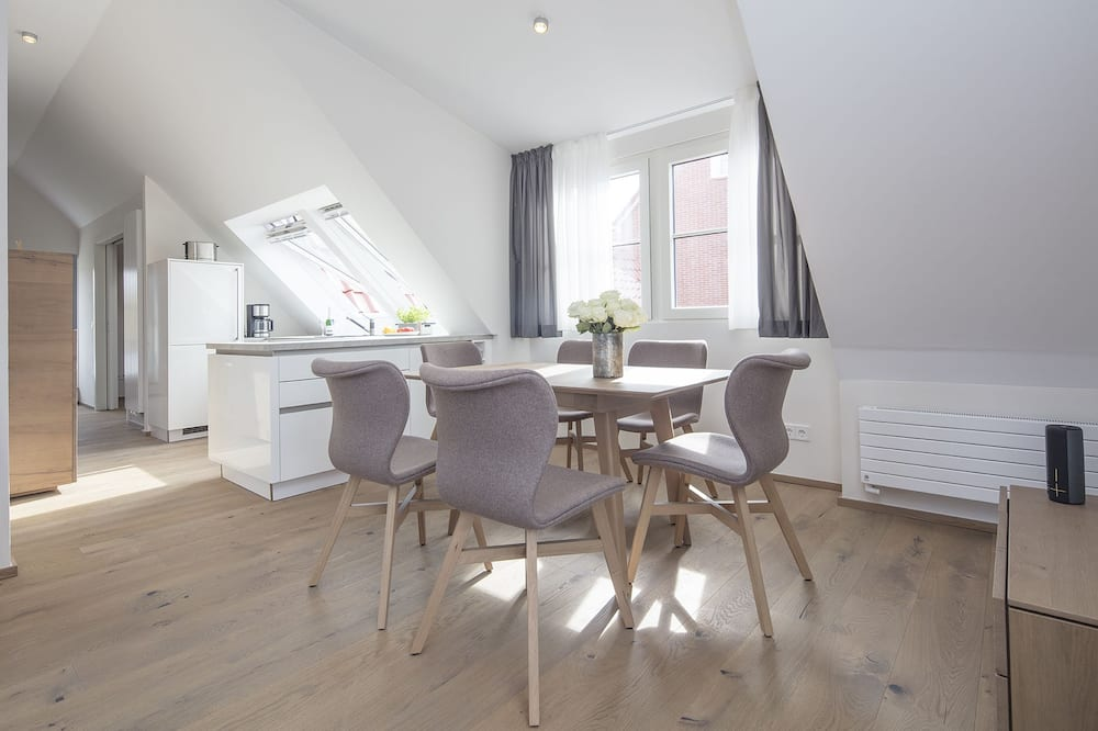 Apartamentai (Watt- und Dünenblick) - Vakarienės kambaryje