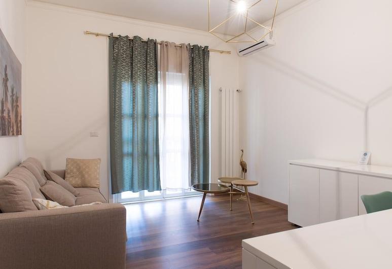 Liberty, Rome, Apartment, 1 Bedroom, Living Room