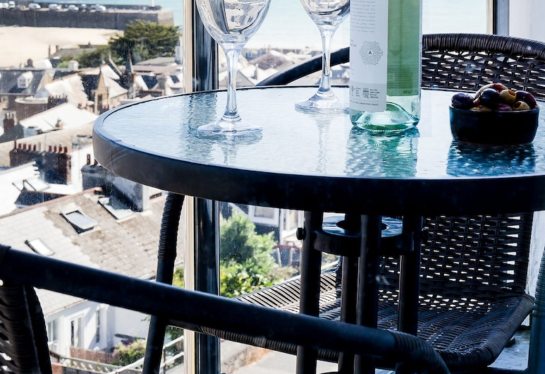 Ocean House, St Ives, Deluxe Double Room, Balcony, Sea View (Room 5), Balcony